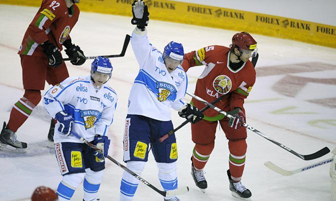 Финны одержали победу, особо не напрягаясь. Или белорусы усыпляют бдительность соперника перед чемпионатом мира?