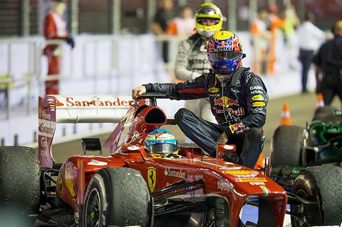 Самый яркий эпизод произошел уже после гонки: Фернандо Алонсо подвез Марка Уэббера до боксов