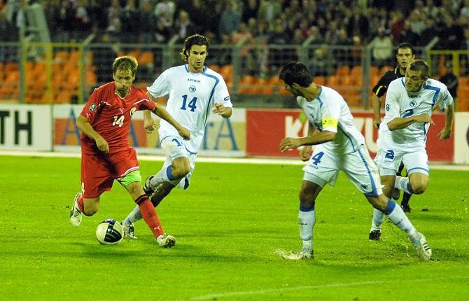 Дриблинг Антона Путило стал одним из самых ярких проблесков в игре белорусов