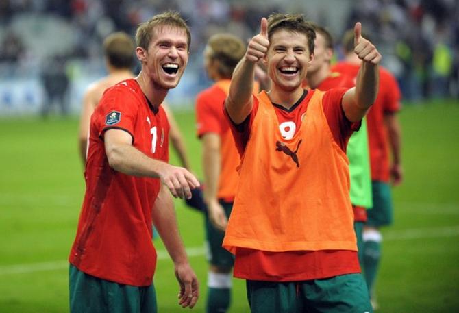После победы над Францией братья Глебы были в великолепном настроении.
