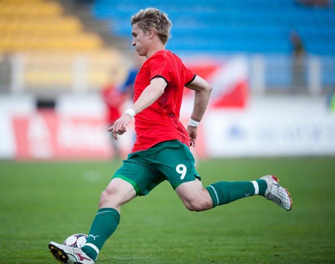 За 20 минут, сыгранных в матче сборных Беларуси и Молдовы, Сергей Кошель успел отметиться попаданием  в штангу