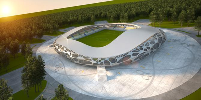 Такой красавец-стадион появится в Борисове в 2012 году.
