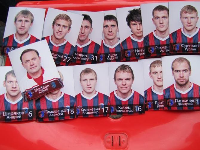В Мозыре игроки покупают магнитики в память о временах, проведенных в клубе.
