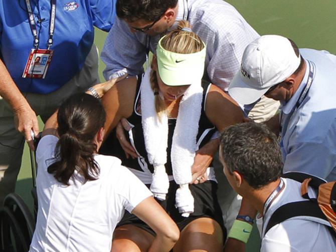 В карьере Виктории Азаренко уже случалось немало травм