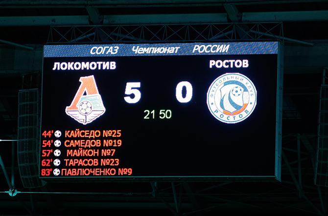 В последний раз «Локо» побеждал с разницей в пять мячей в 2003-м