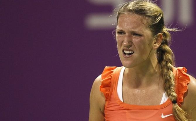 У Виктории Азаренко не все получилось в матче с Верой Звоноревой.