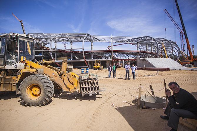 В Борисове строят футбольную «Минск-Арену»