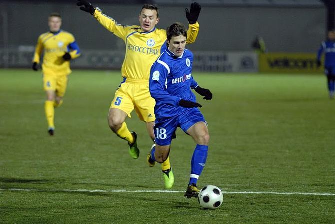 Дмитрий Мозолевский способен доставить неприятности любому защитнику в чемпионате Беларуси