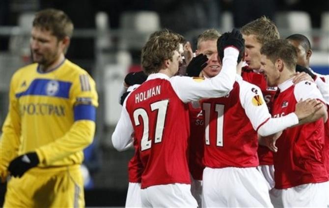 Последний вечер в групповом раунде Лиги Европы не задался