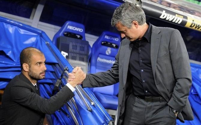 Пожмут ли руки Хосеп Гвардиола и Жозе Моуринью в этот раз?