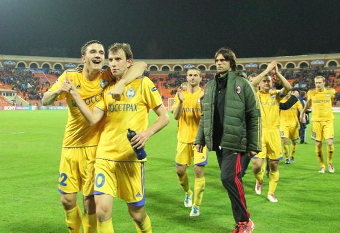 Футболисты БАТЭ радуются ничьей, которая лишила их шансов на плей-офф