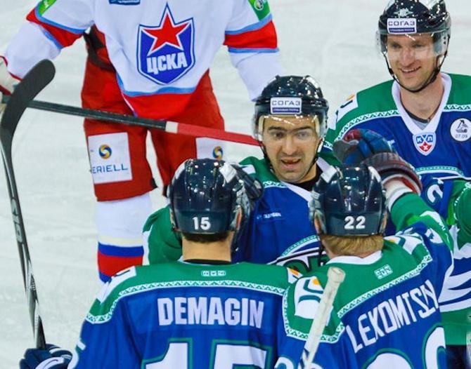 Сергей Демагин открыл счет в матче против своей бывшей команды.