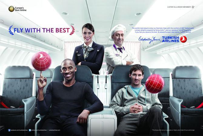 Кобе Брайант и Лео Месси в рекламе Turkish Airlines