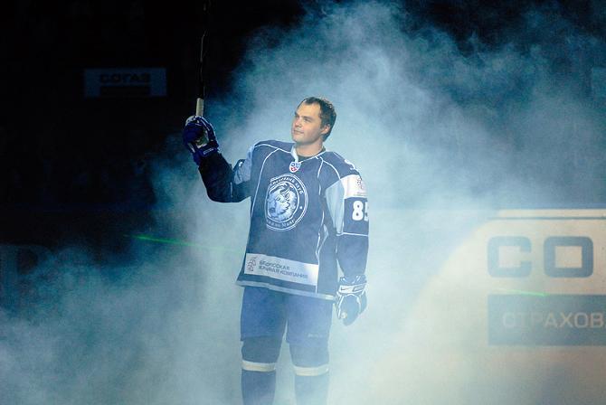 Андрей Антонов как хоккеист раскрылся в Беларуси.
