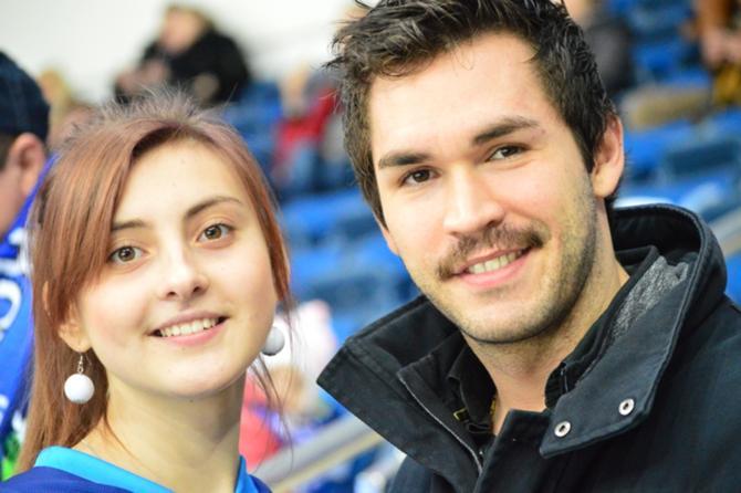 Кевин Лаланд и девушка.