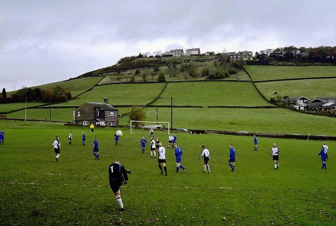 На такой природе в футбол играть одно удовольствие.