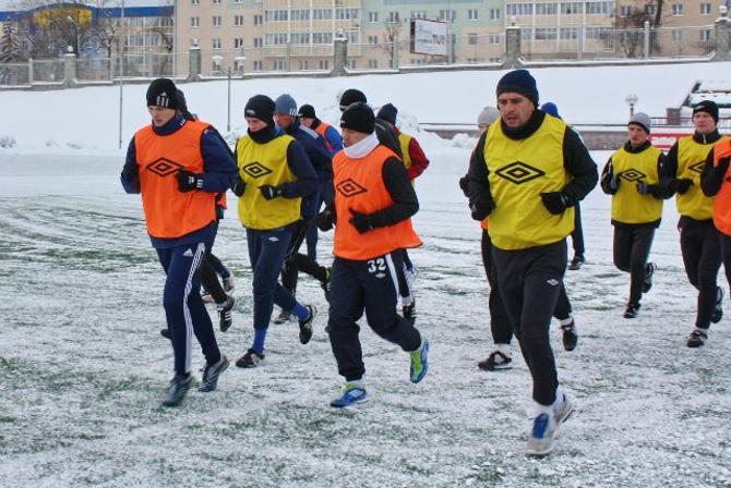 Гродненские футболисты  бегут навстречу сезону