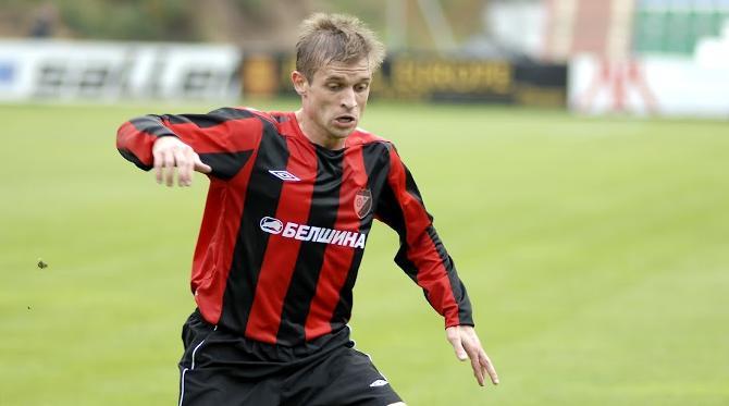 Геннадий Близнюк, сделав дубль, покорил планку в сто мячей в чемпионатах Беларуси
