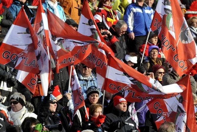 В итальянском Антхольце австрийских флагов куда больше, чем, собственно, итальянских
