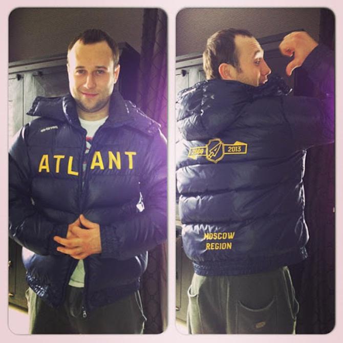 Дмитрий Мелешко в куртке «Атланта». Чтобы это значило, кроме встречи с Константиеном Кольцовым?