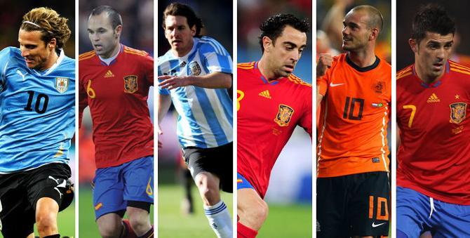 Форлан, Иньеста, Месси, Хави, Снейдер, Вилья - кто-то из них станет лучшим футболистом года. Или нет?