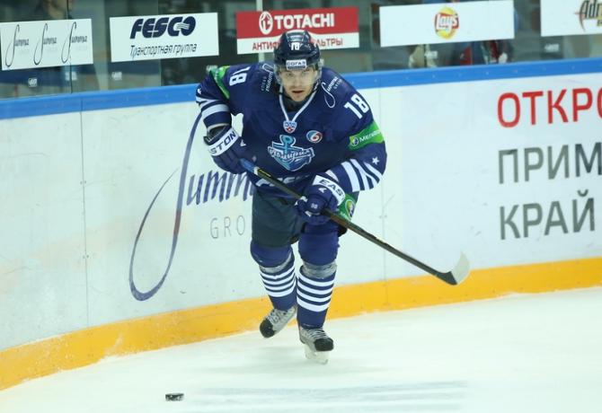 Алексей Угаров с ходу стал одним из лидеров атак «Адмирала»