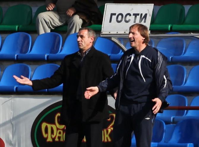 Сергей Вехтев и Юрий Коноплев хоть и свои в Витебске, но в клубе чувствовали себя как гости