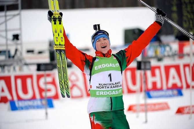 После четырех пьедесталов подряд Дарья Домрачева закончила гонку на 12-м месте.
