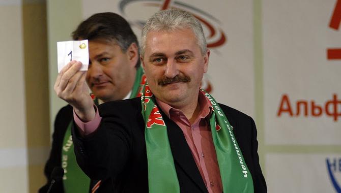 В отсутствие Анатолия Капского главным по шарам у БАТЭ был заместитель гендиректора клуба Михаил Хлус