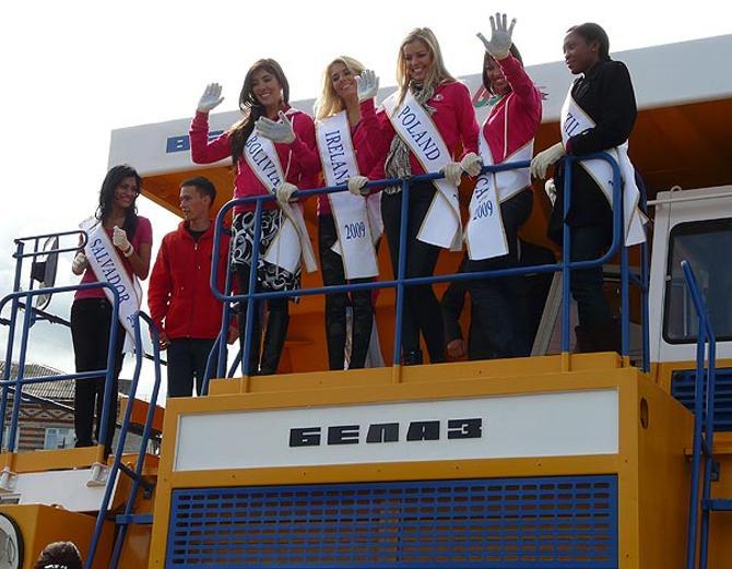 Когда-то на БелАЗе катали участниц конкурса «Мисс Интерконтиненталь», сейчас впору катать Госпожу Удачу…