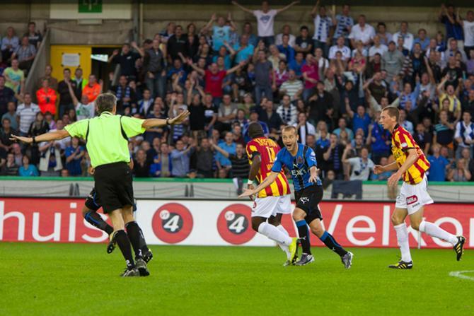 В чемпионате Бельгии футболистам