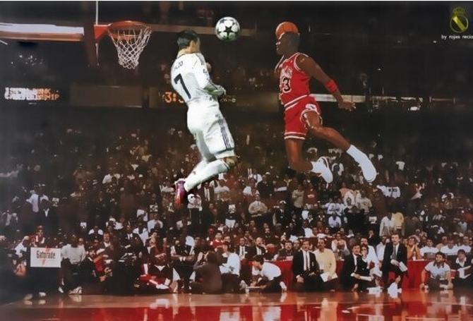 Прыжок Криштиану Роналду с разбега на семь сантиметров выше прыжка среднестатистического баскетболиста НБА
