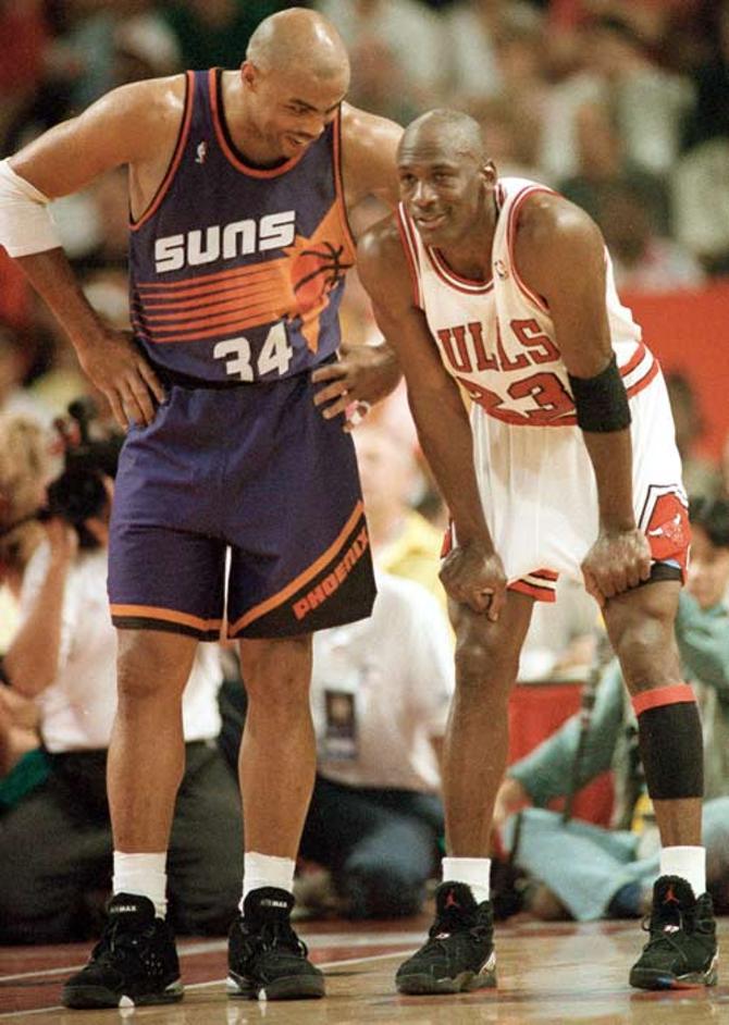 Чарльз Баркли и Майкл Джордан долгое время олицетворяли собой американский баскетбол.