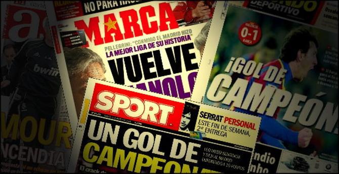 Газеты в Испании не гнушаются не замечать факты или подгонять их под себя.