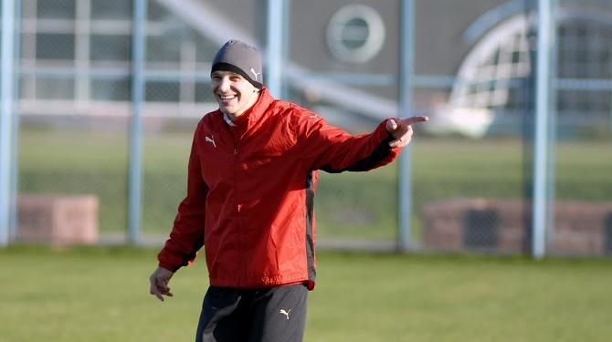В сборную Ян Тигорев всегда приезжает с хорошим настроением.