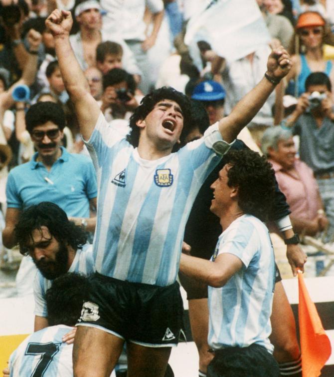 Диего Марадона привел Аргентину к званию чемпиона мира.