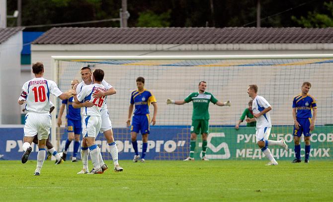 В матче с «Минском» БАТЭ пропустил первый гол в чемпионате. Случилось это событие аж в 13-м туре.