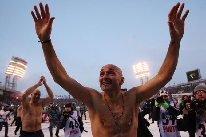 Лучано Спаллетти празднует чемпионство