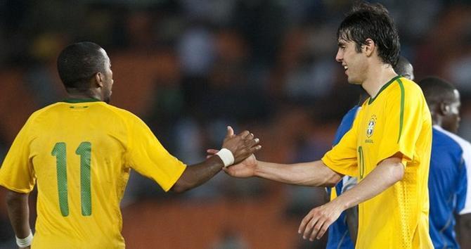 Робиньо и Кака - две надежды нынешней сборной Бразилии.