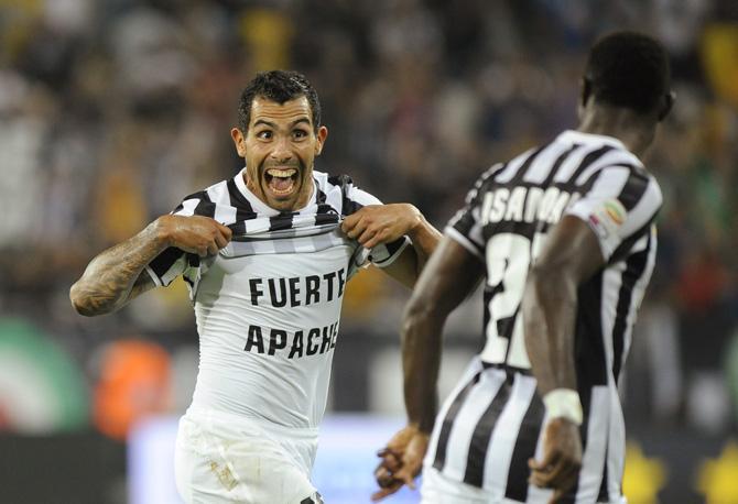 Карлос Тевес: три официальных матча за «Юве» - три гола