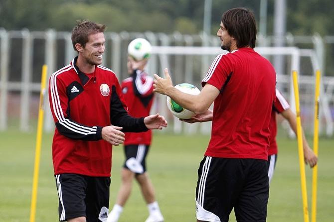 Перед матчем с Черногорией Александр Глеб находился в отличном настроении