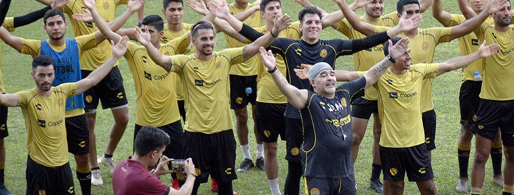 Марадона теперь во второй лиге Мексики. Кто-нибудь, остановите его