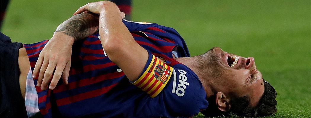 Месси сломал руку и не сыграет с «Реалом». Он не пропускал класико 11 лет