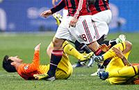Гана-стайл. Матч «Милан» – «Барселона» в картинках