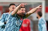 Хунтелар все еще крут: влетел в игру на 89-й, принес победу «Аяксу» двумя голами за 3 минуты