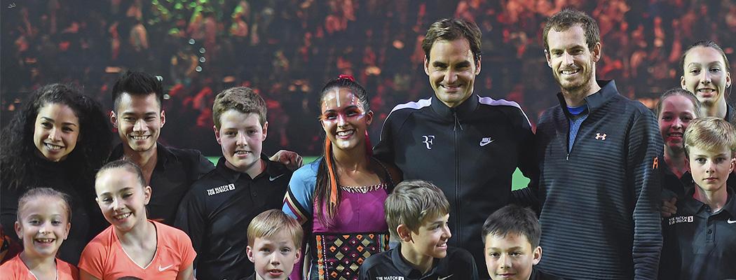 Федерер и Маррей превратили благотворительность в шоу. И собрали 4 млн долларов