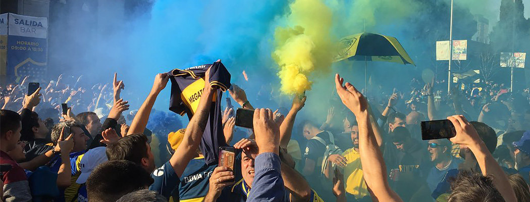 Аргентинский футбол захватил Мадрид – песни, дым и 4000 полицейских
