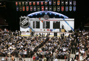 Первый раунд драфта НХЛ. Хроника событий