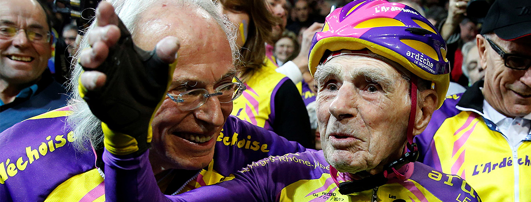 105-летний велогонщик, установивший новый мировой рекорд