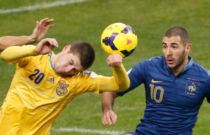 Франция – Украина. Оценки игроков